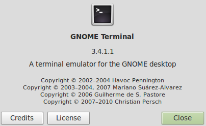 Terminal Gnome Linux